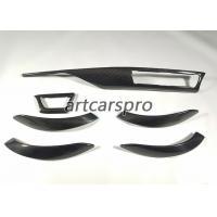China 3 Series F30 BMW Interior Trim Real Carbon Fiber Gas Fuel Door Cover Upgrade Trim 6 Piece on sale