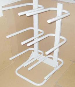 China Practical white structure removable double row 6 barrels water bottle racks saving space on sale