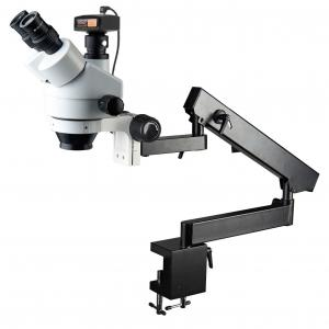 China SXL7045-STL6B with digital camera Trinocular head articulated flexible arm boom stand stereo zoom microscope on sale