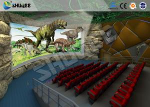 China Large 360 Degree Screen 4D Movie Theater With 4D Simulator Can Hold 60-100 People on sale