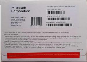 Quality La favorable etiqueta engomada Systerm win10 del Coa del software de Microsoft for sale