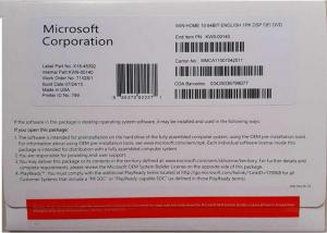 Quality Original Microsoft Windows 10 Pro Software Coa Sticker Systerm win10 Home COA for sale