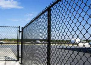 """China 6 gauge ‐0.192"""" 4.88 mm chain wire diameter mesh 2.5x2.5  within line post on sale"""