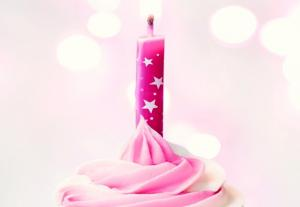 China Stars Printed Awesome Birthday Candles , Fancy Cake Candles For Wedding / Holiday on sale