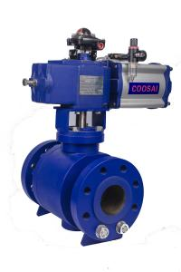 China O Shaped Trunnion Type Pneumatic Actuator Ball Valve on sale