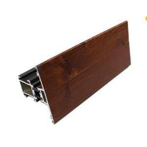 China Wood Finish Aluminium Alloy Profile , Extruded Aluminum Profiles For Windows / Door on sale