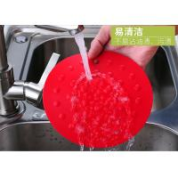 China Red Flexible Silicone Table Mat  Easy Washing Heat Insulation OEM on sale