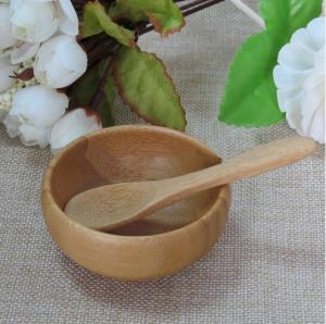 China bamboo spa bowl , bamboo spoon bamboo spatula wooden bamboo lacquer bowls on sale