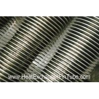 China SS409/SS410 spiral finned tube , Heat Exchanger solid & serrated  fin Tubular on sale
