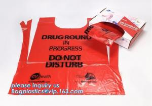China Medical disposable aprons for doctor, LDPE coated biohazard apron,Surgical Apron, Logo Printed Disposable medical Plasti on sale