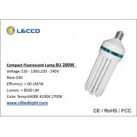 China 8U 200W Energy Efficient Fluorescent Light Bulb E40 PBT Plastic Material on sale