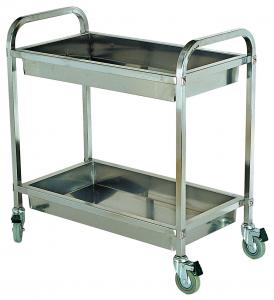 Quality Kitchen Restaurant Hotel Stainless Steel Wine Liquor Trolley  Tableware Collect Cart Dining For Sale
