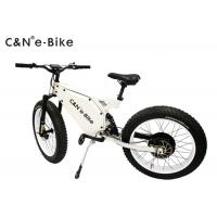 High Speed Electric Fat Tire Mountain Bike , Electric Bicycle With Big Fat Tires