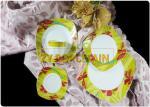 Ceramic Quadra 30 Piece PORCELAIN Dinnerset - White & ELEGANT YELLOW FLOWERS