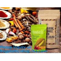 SIDE GUSSET COFFEE BAGS,STAND UP COFFEE BAGS,KRAFT PAPER COFFEE BAGS Foil Zip Lock Stand Up Food Pouches Bags with Notch