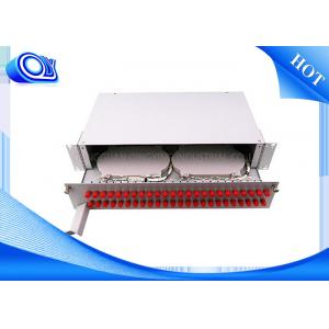 China PP - FC 48 Port Optical Fiber Patch Panel Fixed & Sliding Type For FTTH on sale