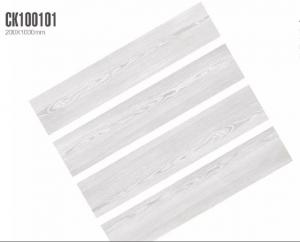 China Gray Color Rectified Wood Effect Ceramic Tiles 1380N Breaking Strength on sale