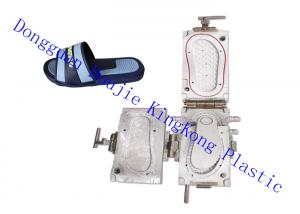 China Double colors PCU slipper mold, 2 colors PCU Air blowing Modular for rotary shoe injection machine on sale