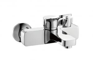 China Single Lever Square Shower Mixer Taps Bath-shower Faucet Brass Turnable Diverter  on sale