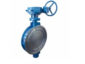 China Triple Offset Wafer Type Butterfly Valve Gear Operated With Metal Sealing on sale