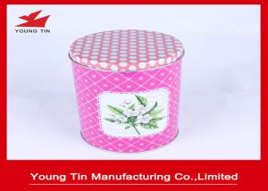 China Full Color Printed Round Metal Tea Storage Containers 100 X 135 MM LFGB Certification on sale