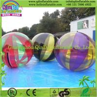 QinDaTransparent dia 2m water walking ball/ inflatable water balls price water zorb ball