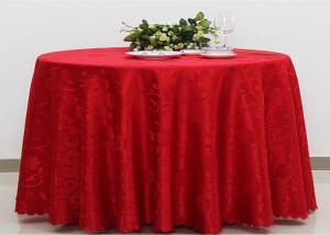 China Panos de tabela de linho da planície do jacquard do poliéster para o fogo de Oilproof do banquete de casamento - retardador on sale