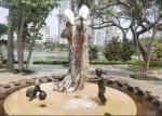 Outdoor Bronze Garden Sculpture , Decorative Modern Bronze art Sculpture