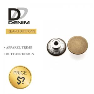 China Decorative Antique Denim Metal Buttons , Trousers Metal Shank Buttons Bulk on sale