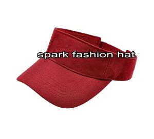 Quality 2014 new fashion maroon color kids sun visors for sale
