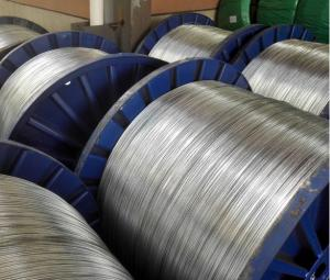 China ASTM B415-92 Acsr Core Wire , Corrosion Resistance Aluminum Electrical Wire on sale