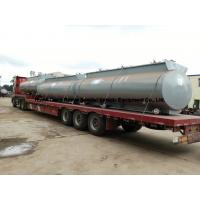 Chemical Road Tankers For Hydrochloric Acid With Steel Lined PE 16mm -18mm Tank Body