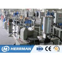Outdoor Fiber Optic Cable Production Line Cable Jacketing Machine With Metal Armoring