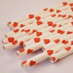 palhas de papel dos acessórios do casamento