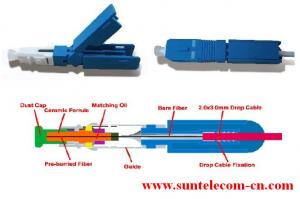 China FTTH SC Fast Field Assembly Connector on sale