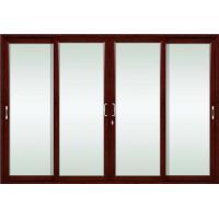 German siegenia hardware champagne aluminum sliding glass doors with tempered glass