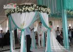 白く贅沢な結婚式のテントの透明なアルミニウム フレームによってプリーツをつけられる屋根