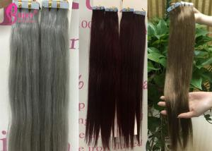 China Virgin Tape In Double Drawn Remy Hair Extensions Keratin Skin Weft No Shedding on sale