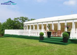 China Custom Event Party Tent With Soft PVC Fabric Wall Flame Retardant Commercial Grade on sale