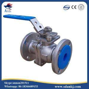 China Lever operated 2pc stainless steel floating ball valve on sale