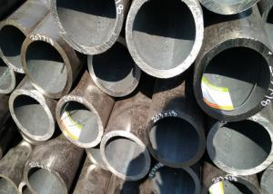 China Painted Seamless Black Pipe , Optional Length High Stress Seamless Steel Tube on sale