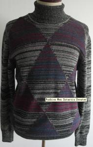 China Fashion Men Intarsia Sweater on sale