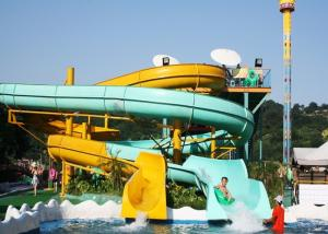 China Outdoor Spiral Slide Water Slide Water Playground For Amusement Park on sale