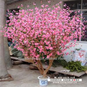 China 2.5m artificial decoration flower bonsai /artificial peach tree supplier