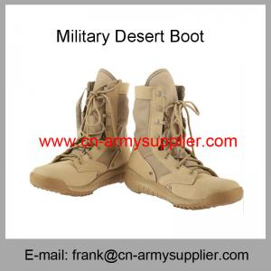 China Wholesale Cheap China Army Brown Military Tactical Desert Boots on sale