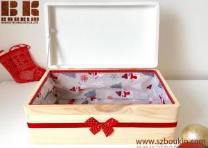 China Personalised Wood  Christmas Eve Box Christmas Decoration Baby Christmas Gift on sale