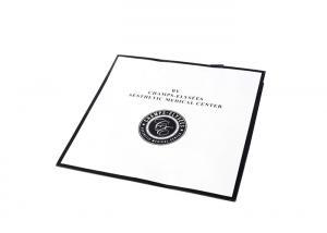 China White Cardboard Custom Made Shopping Bags With Logo Matt Laminated Black Rribbion on sale