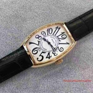 China Franck Muller Price List - Franck Muller Conquistador Mens Watch Rose Gold Leather Band on sale