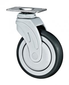China Medical Equipment Rubber Caster Wheels / Grey Small Hospital Bed Wheels on sale