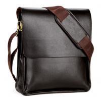 China PU Black Brown Men Messenger Bags , Leather Messenger Bags For Men on sale